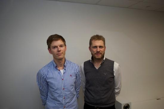 Dag Henrik Rølmann og Geir Ove Perlestensbakken i Interflora