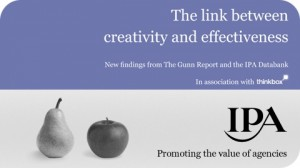 The Link between creativity and effectiveness. Peter Field, IPA and Thinkbox.