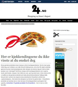 Online advertorial for Jernia på nettavisen.